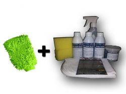 Mini Kit Básico Ecolavagem DRY LIMP + Luva De Microfibra (20 Lavagens a Seco)