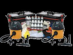 Super Kit (500 Lavagens a Seco) + 2 Aspiradores+ 2 Carrinhos Organizador