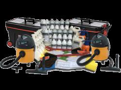 Mega Kit (1.000 Lavagens a Seco) + 2 Aspiradores + 2 Carrinhos Organizador