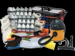 Mega Kit (1.000 Lavagens a Seco) + Aspirador + Carrinho Organizador