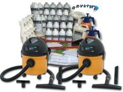 Mega Kit Ecolavagem Profissional Completo (1.000 Lavagens a Seco) + 2 Aspiradores